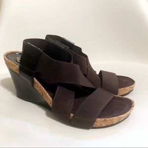 NEW IN BOX BCBGeneration Brown Cork Wedges